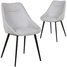 Light Grey Khufra Upholstered Dining Chairs (Set of 2)