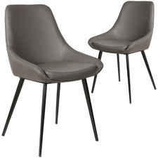 Daimyo Faux Leather Dining Chairs (Set of 2)