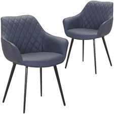 Toulouse Faux Leather Dining Armchairs (Set of 2)