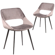 Nancy Velvet Dining Chairs (Set of 2)