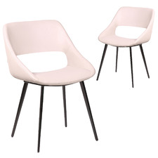 Nancy Faux Leather Dining Chairs (Set of 2)