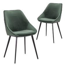 Khufra Velvet Dining Chairs (Set of 2)
