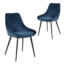Daimyo Velvet Dining Chairs (Set of 2)