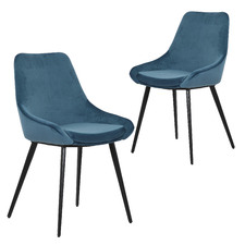 Daimyo Dusty Velvet Dining Chairs (Set of 2)