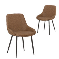 Lance Faux Leather Dining Chairs (Set of 2)