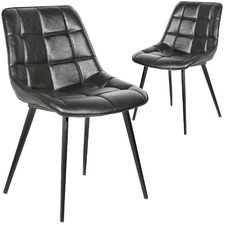 Nantes Faux Leather Dining Chairs (Set of 2)