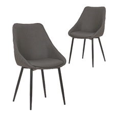 Khufra Faux Leather Dining Chairs (Set of 2)