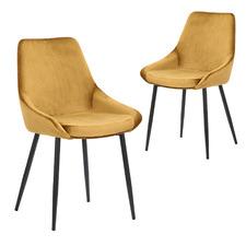 Daimyo Bright Velvet Dining Chairs (Set of 2)