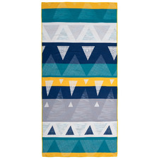 Textured Triangles 500GSM 4-in-1 Beach Towel