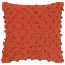 Acacia Solid Orange Cotton Cushion