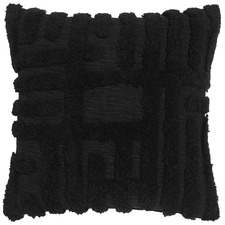 City Black Cotton Cushion