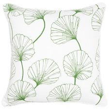 Eloise Green Cotton Cushion