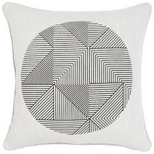Orb Black Cotton Cushion