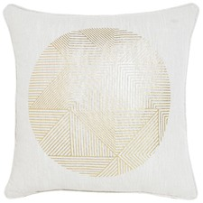 Orb Gold Cotton Cushion