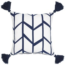 Picnic Navy Cotton Cushion