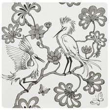 Egrets Black Placemat (Set of 4)