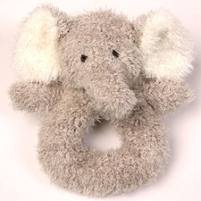 """Scruffy"" Elephant Rattle Toy"