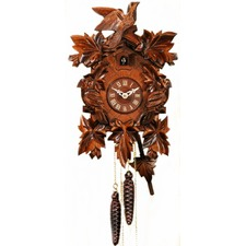 Birds And Leaves 1 Day Cuckoo Clock