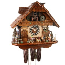 1 Day Musical Beer Drinkers Cuckoo Clock
