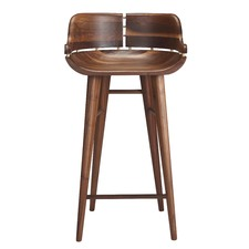 Kurf Walnut Counter Stool with Backrest