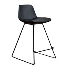 Parker Leatherette & Powder-Coated Counter Stool