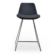 Reece Fabric Barstool with Chrome Legs
