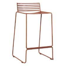 Studio Copper Wire Counter Stool with Backrest