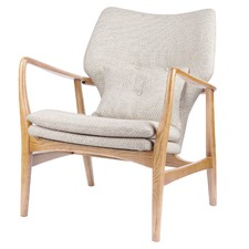 Off-White & Ash Grace Upholstered Armchair