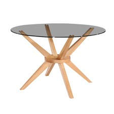 120cm Beech Banza Round Dining Table