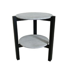 Black Oia Two Top Side Table