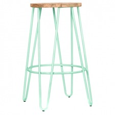 Peppermint & Natural Elm Alice Counter Stool