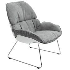 Light Grey Francesco Bellini Bay Lounge Chair