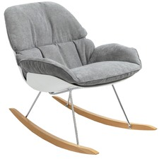 Light Grey Francesco Bellini Bay Rocking Chair