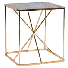 Gold Lexie Side Table