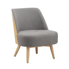 Light Grey & Ash Maddie Lounge Chair