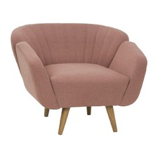 Dusty Rose Slice Arm Chair