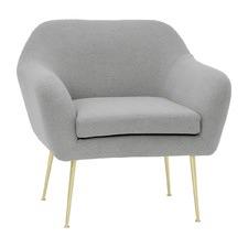 Light Grey Wingman Arm Chair