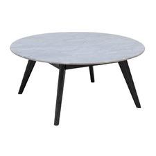 Nara Round & Black Large Coffee Table