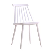Olivia White Spindle Dining Chair