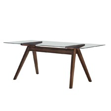 Walnut Hjordis Scandi Rectangle Dining Table