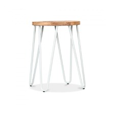 Benson Elm & White Low Stool