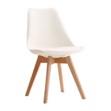 Beech & White Axl Dining Chair (Set of 2)