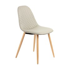 Jessie Light Grey Leatherette Dining Chair (Set of 2)