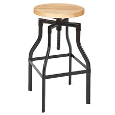 Boston Industrial Timber Barstool