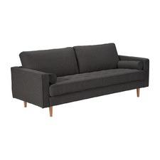 Leonard Charcoal 3 Seater Fabric Sofa