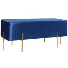 Blue Velvet Marie Bench