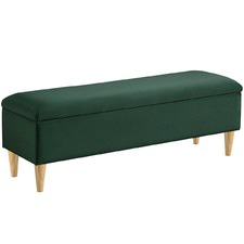 Maggie Velvet Storage Bench
