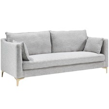 Grey Weave Vivienne 3 Seater Sofa