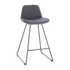 Reece Fabric Barstool with Black Legs
