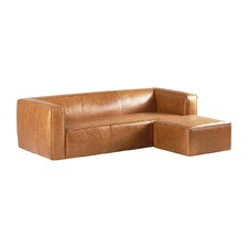 Tan Pawel Leather Sofa